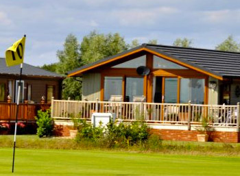 Buy a wooden holiday lodge near the golf course